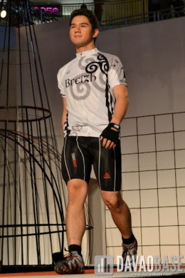 Sports wear on a male model during the Style Origin Fashion Show at Abreeza