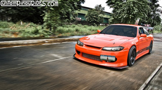 Charles Sevilla Orange Nissan S14 Silvia Rolling Shot Custom Pinoy Rides