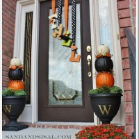 Countdown to Fall Party- Front Porch & Door Decor