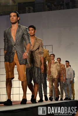 Male models during the Mensweek Fashion Show at Abreeza