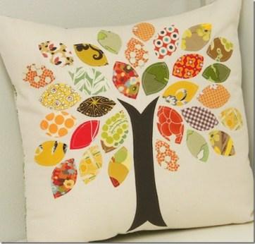 Fabric Scrap Tree Pillow