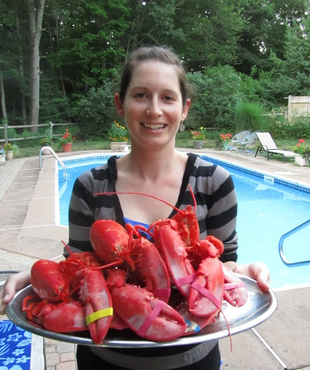 Renee with the lobster plate