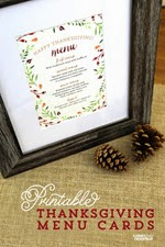 Elegance and Enchantment - Thanksgiving Menu Cards