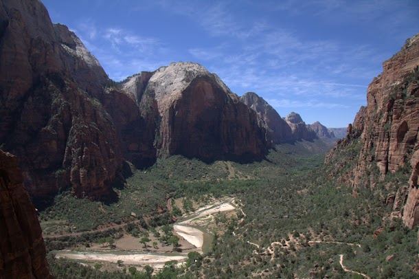 In Zion Canyon - Looking Down it