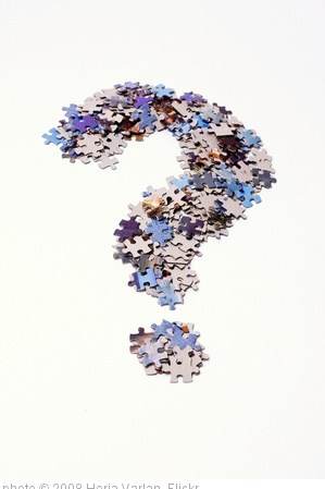'Question mark made of puzzle pieces' photo (c) 2008, Horia Varlan - license: http://creativecommons.org/licenses/by/2.0/