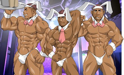 cartoon muscle women with big cocks