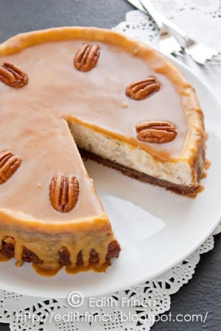 cheesecake cu nuci si caramel 1