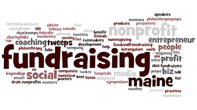 Fundraising coach branding on Twitter lists