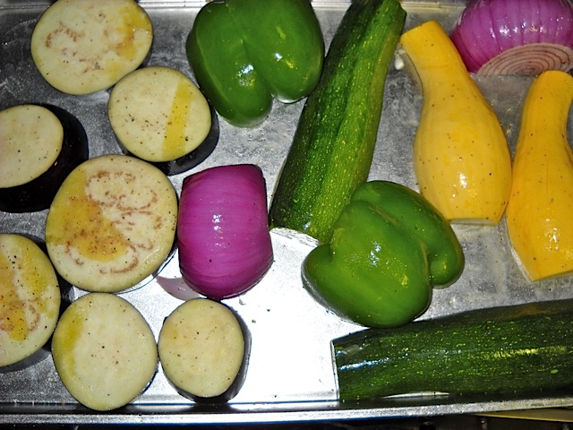 oiled vegetables