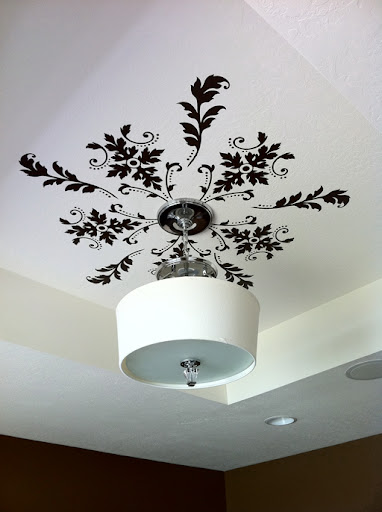 stenciling ideas on ceiling