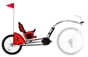 WeeHoo iGo - Recumbent Trailer Bike - 2-9 years. Suits older kids who've grown out of seats, but aren't yet riding long distances on their own. $450