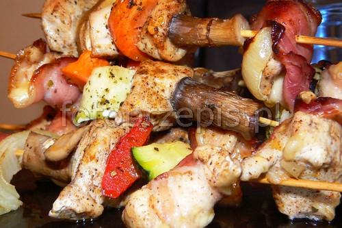 Szaszłyki z kurczaka przepisy czytelnikow obiad latwe kurczak i drob grillowane danie glowne  przepis foto