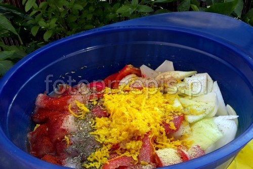 Szaszłyki z piersi kurczaka na sposób orientalny wykwintne swiateczne srednie orientalna obiad kurczak i drob grillowane danie glowne  przepis foto