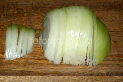 Karmelizowana cebula wegetarianskie warzywa szybkie smazone latwe  przepis foto