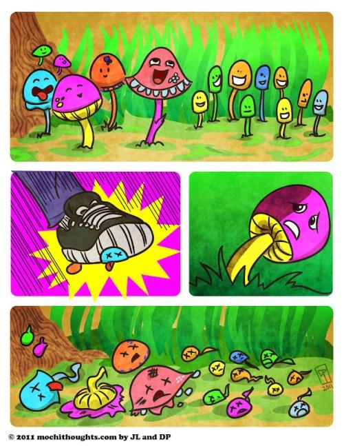 Cute Comic, Bad Mushrooms Deserve a Smashing