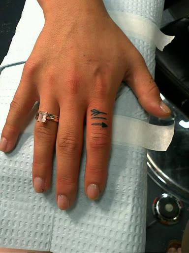 small Arrow tattoos finger