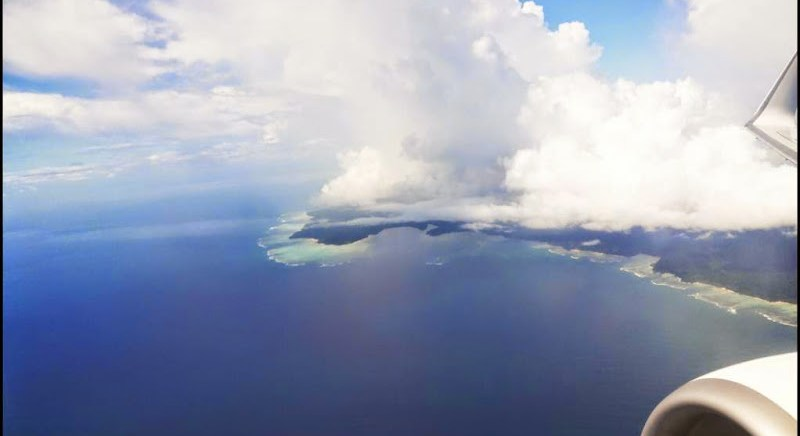 bird's eye view of port blair