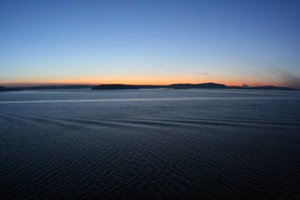 Kurz vor Sonnenaufgang
