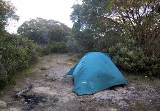 Camping at Boranup Hill on the Cape to Cape Track
