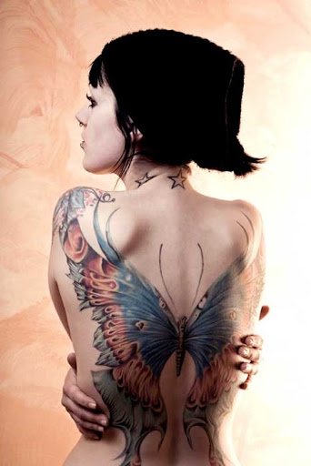 butterfly tattoos for back
