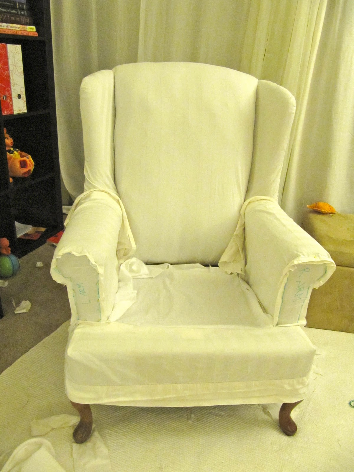 Fullsize Of Wing Chair Slipcover