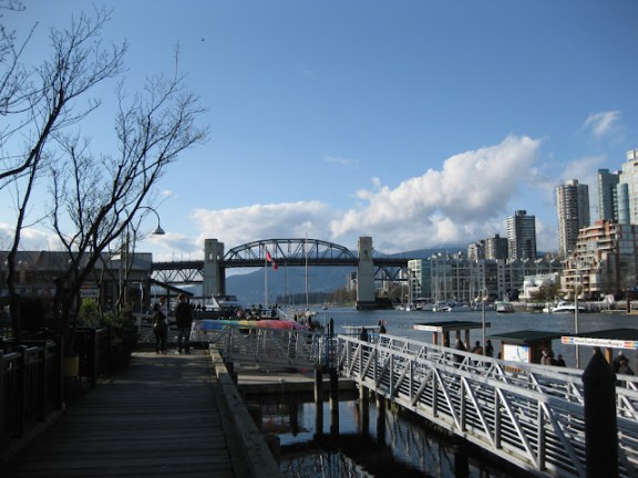 View from Granville Island towards downtown Vancouver