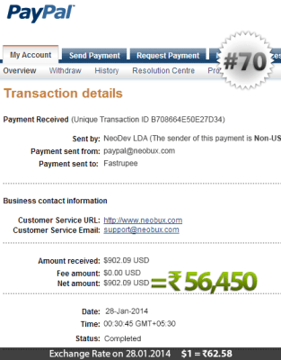 Neobux Payment Proof 70