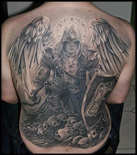 warrior angel tattoos