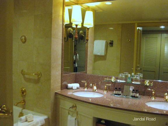 bathroom at Fairmont Chateau Whistler