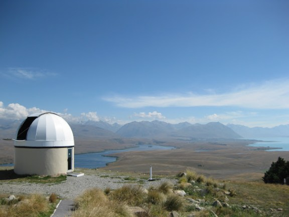 One of the telescopes at Mount John Observatory, Lake Tekapo