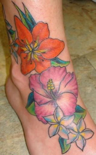 Hawaiian Hibiscus Flower tattoos