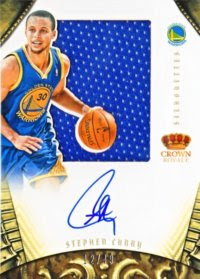 12/13 Panini Preferred Stephen Curry Silhouette Auto Jersey