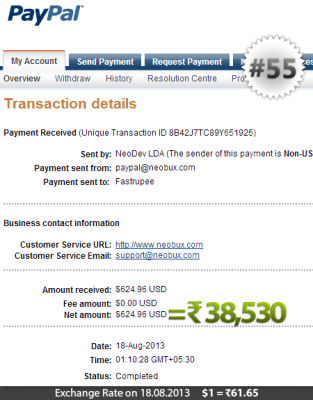 Neobux Payment Proof 55