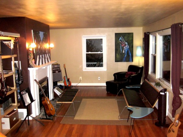 Creating your own recording studio at home the packrat wifey for Recording studio live room design