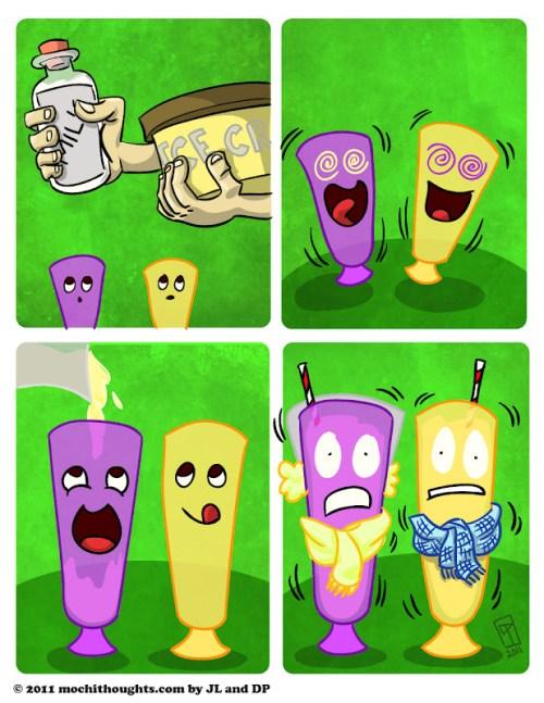 Cute Food Comic, Milk SHAKE