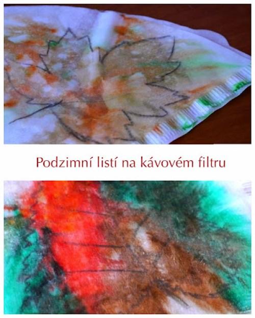 Malování podzimního listī