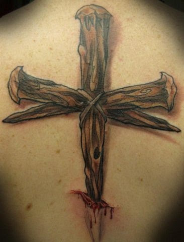 cross tattoo design for men back
