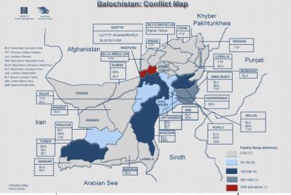 Balochistan Conflict Map: Source SATP