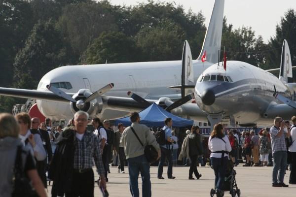 Zahlreiche Flugzeuge waren ausgestellt