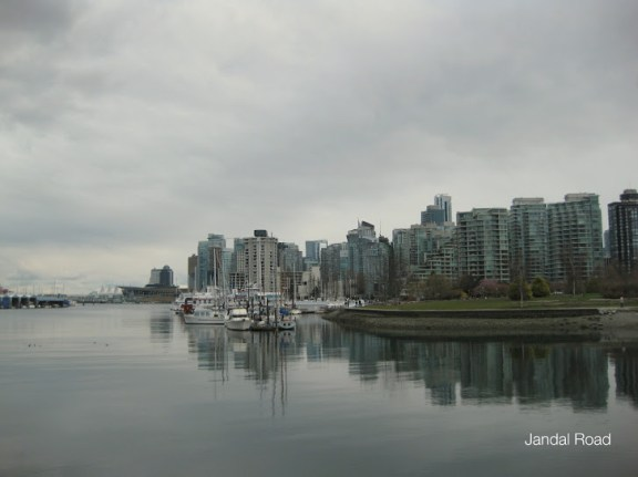 View of Coal Harbour from Stanley Park