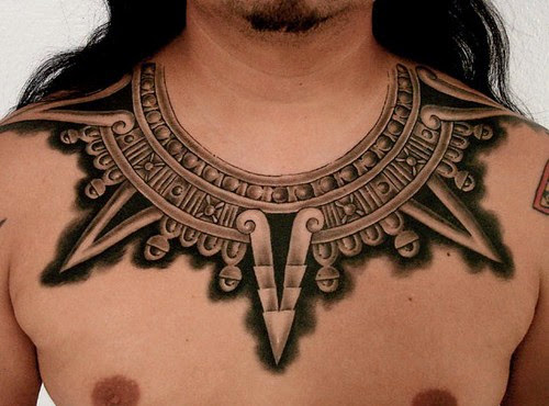 aztec tribal tattoos on neck