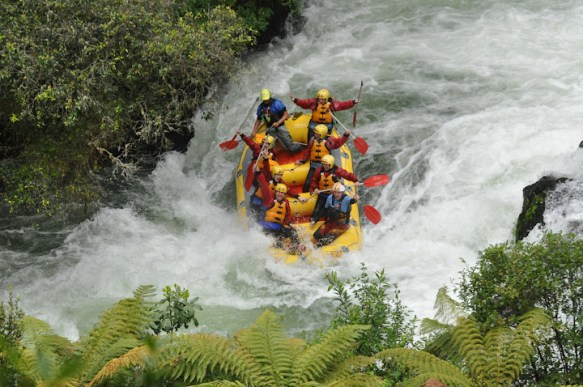 White water rafting in Rotorua, North Island