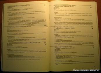 przykładowa strona katalogu z opisami eksponatów
