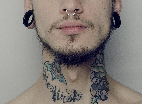 men neck tattoos design
