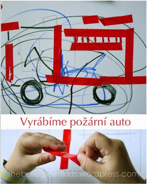 Tvoření s dětmi požární auto