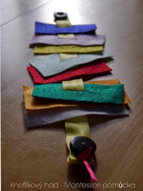 Knoflíkový had - Montessori