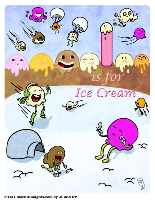 Cute Comic, I is for Ice Cream