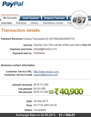 Neobux Payment Proof 57
