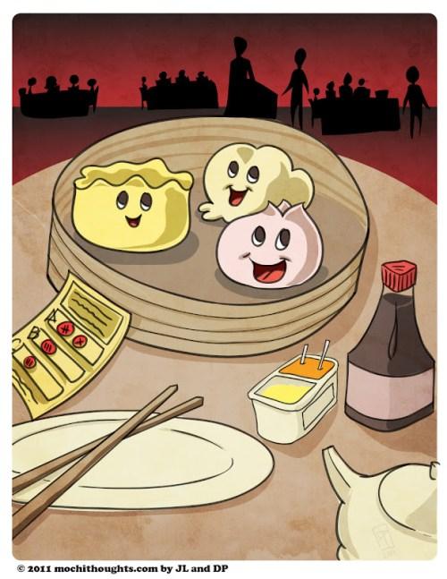 cute food comic dim sum
