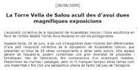 Agrupación de Acuarelistas Vascoss en Torre Vella Salou 2009